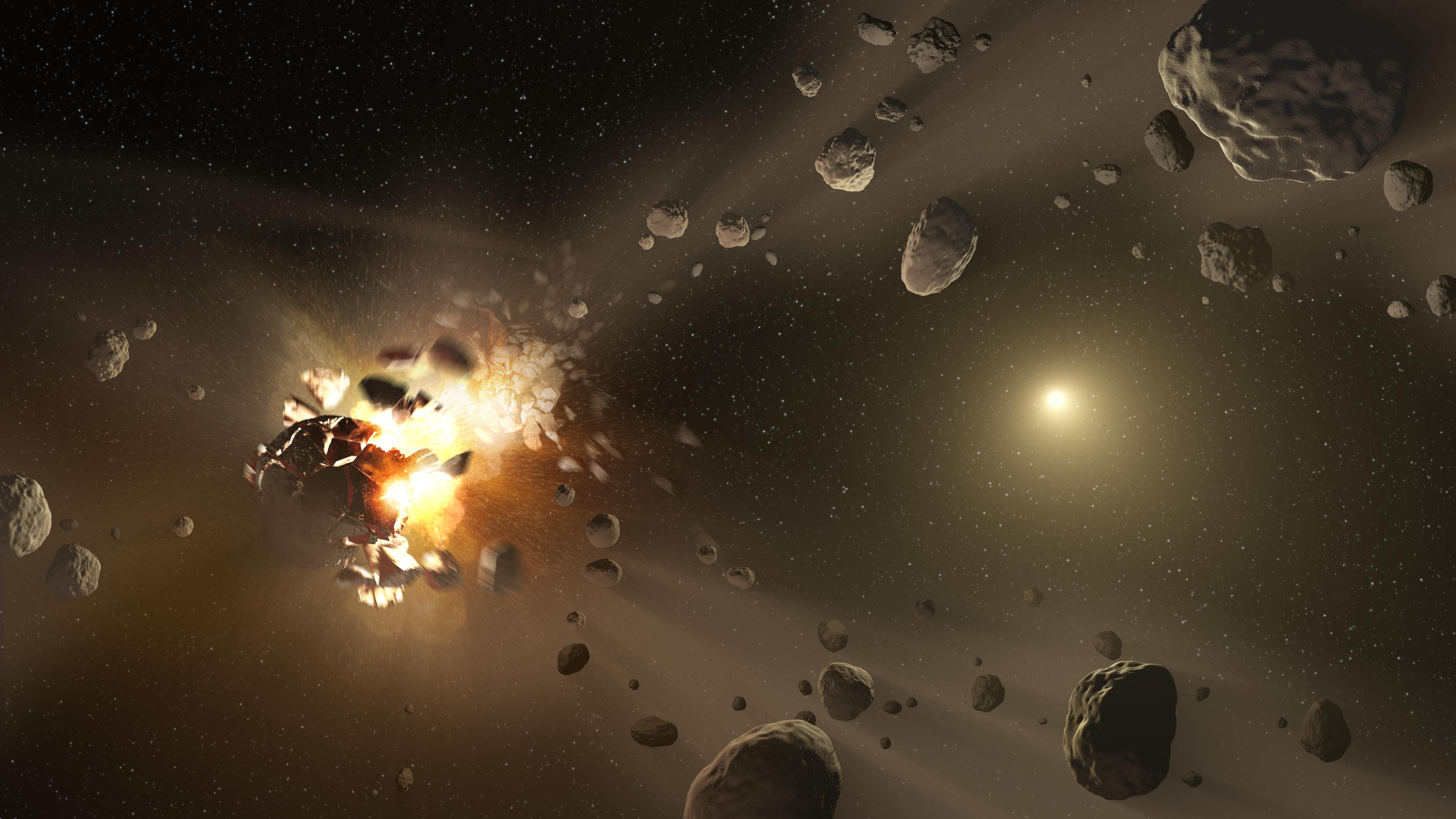 Exploding space rocks
